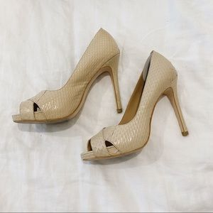 Ann Taylor peep toe heels